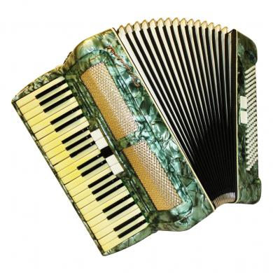 Universal, 120 Bass, 7 Registers, Case, German Piano Accordion, 569