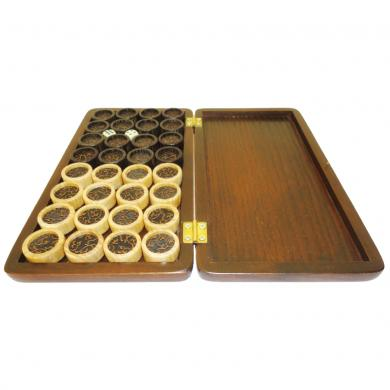 "Set of Luxury Wooden Pieces / Chips for Backgammons, High Quality Wood, 1"" 2.5cm"