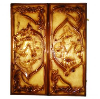 "24"" Backgammon Set Joker, New Handmade Carved Board Game, Wooden Piece Of Art, 491"