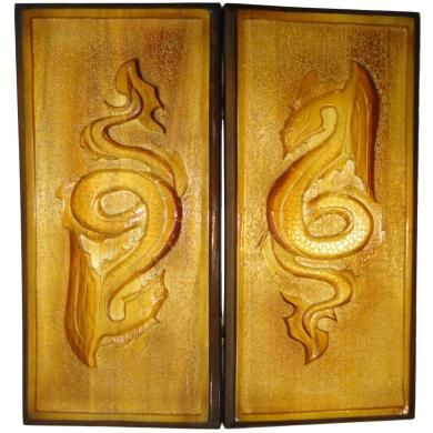 "20"" Dragon Backgammon Set, Art Ornament, New Handmade Carved Board Game, 798"