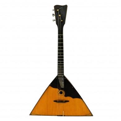 Rare Vintage Balalaika, made in Russia, 3 Strings, 26 Frets, Natural Wood, 1439 Wonderful Sound!