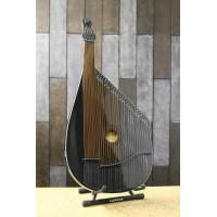 New Traditional Folk Ukrainian Bandura Chromatic String Musical Instrument Very Beautiful and Magnificent Sound! Chernigiv Type Black