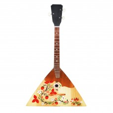 New Russian / Ukrainian Balalaika 3 Strings, Prima, Hand Painted! Folk Berries! Wood! High Quality!