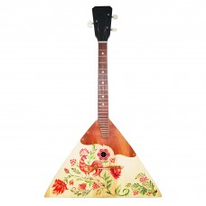 New Classic Original Russian Ukrainian Balalaika Prima 3 Strings Trembita! Natural Wood! Firebird Hand Painted!