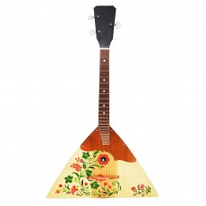 New Classic Original Russian Ukrainian Balalaika Prima 3 Strings Trembita! Natural Wood! Hand Painted Kalina!