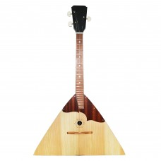 New Classic Original Russian Ukrainian Balalaika Prima 3 Strings Trembita! Natural Wood! Folk Musical Instrument!