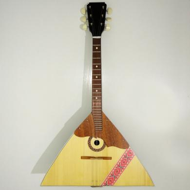 Brand New Classic Original Russian Balalaika 6 Strings Prima. High Quality! Natural Wood with Ornament! 994