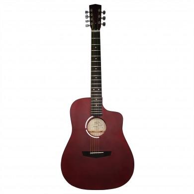 New Russian / Ukrainian Seven 7 String Guitar, Acoustic, Сutaway, Red, 992