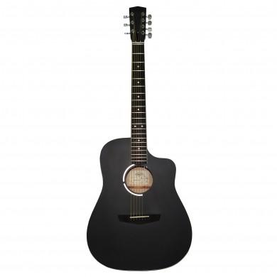 New Russian / Ukrainian Seven 7 String Guitar, Acoustic, Сutaway, Black, 390