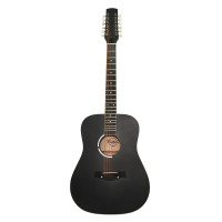 Brand New Acoustic Guitar 12 Strings made in Ukraine Trembita Natural Wood Black Amazing Sound!