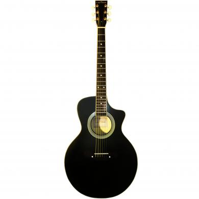New Russian / Ukrainian Six 6 Strings Acoustic Guitar, Cutaway, Black, 392