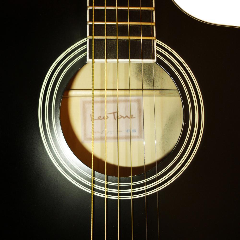 new russian ukrainian six 6 strings acoustic guitar cutaway black 392. Black Bedroom Furniture Sets. Home Design Ideas