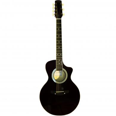New Russian / Ukrainian Seven 7 String Guitar, Acoustic, Сutaway, Black, 390