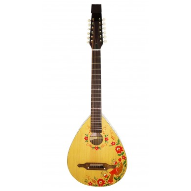 New Acoustic 12 String Lute Folk Guitar Kobza Vihuela Ukraine Trembita Hand Painted!