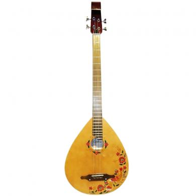 New Ukrainian Folk 4 Strings Guitar Kobza Bass Wooden Graphic Original, 56