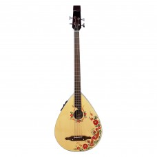 New Ukrainian Folk Electric Guitar Kobza Bass 4 Strings with Electronic Pickup, Hand Painted!